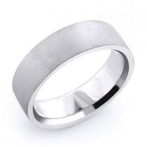 14K Gold Matte Mens Wedding Band