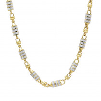 14k Gold Mens Diamond Chain Necklace for Sale 11 Carats by Luxurman