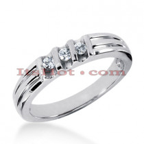14K Gold Men's Diamond Wedding Ring 0.21ct