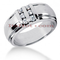 14K Gold Men's Diamond Wedding Ring 0.30ct