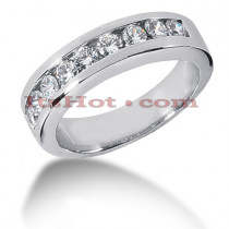 14K Gold Men's Diamond Wedding Ring 0.90ct