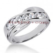 14K Gold Men's Diamond Wedding Ring 1.05ct