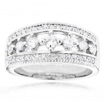 14K Gold Mens Diamond Wedding Ring 1.54ct