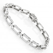 14K Gold Pave Diamond Bracelet 4.23ct