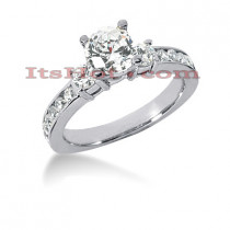 14K Gold Preset Diamond Engagement Ring 1.06ct