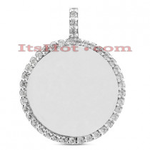 14k Gold Round Diamond Circle Pendant 0.40ct