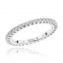 14K Gold Round Diamond Eternity Band 0.37ct