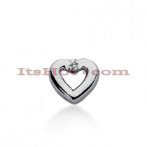 14k Gold Round Diamond Heart Necklace 0.15ct