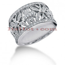 14K Gold Round Diamond Ladies Ring 0.80ct