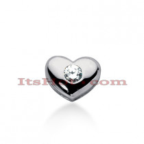 14k Gold Round Diamond Puffed Heart Pendant 1ct