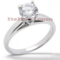 14K Gold Round Diamond Solitaire Engagement Ring 0.40ct
