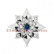 14K Gold Round Diamond Star Pendant 0.65ct