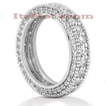 14K Gold Round Diamonds Eternity Ring 2.06ct