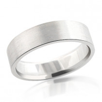 14K Gold Satin Wedding Band for Men