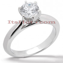 14K Gold Six-Prong Engagement Ring Mounting