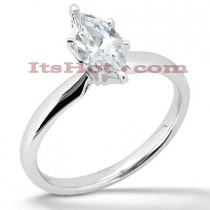 14K Gold Six-Prong Solitaire Engagement Ring 0.50ct