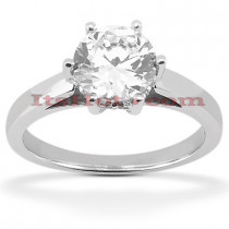 14K Gold Six-Prong Solitaire Engagement Ring 0.54ct