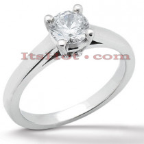 14K Gold Solitaire Engagement Ring 0.51ct