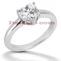 14K Gold Solitaire Engagement Ring 0.75ct