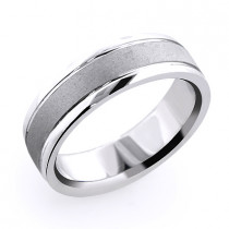 14K Gold Urbane Mens Wedding Band