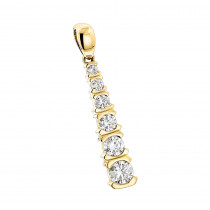 14K Gold Journey Diamond Pendant for Women 1/2ct