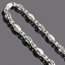 14K Mens Diamond Chain Necklace 19.60ct