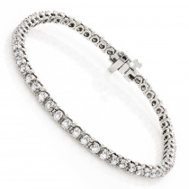 14K Gold Round Diamond Tennis Bracelet for Women 1 3/4ct G/VS