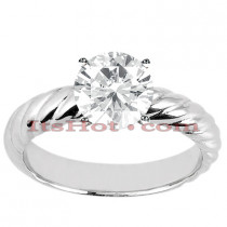 14K Solitaire Diamond Engagement Ring Setting