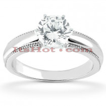14K Solitaire Round Diamond Engagement Ring 0.50ct