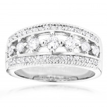 14K Womens Diamond Wedding Ring 1.54ct
