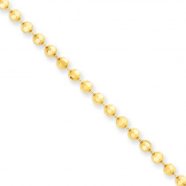 14K Yellow Gold Ball / Combat / Dog Tag Chain 3mm 24-40in
