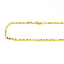 14K Yellow Gold Cable Chain 20 -40in 2mm