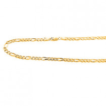 14K Yellow Gold Figaro Chains Collection Item 4mm 20in - 40in