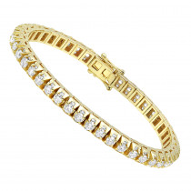 11 Carat Diamond Tennis Bracelet For Men & Women 14k Gold by Luxurman