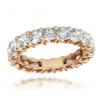 18K Gold Cushion Cut Diamond Eternity Band 4.5ct by Luxurman