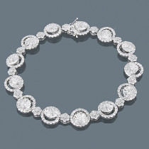 18K Gold Designer Diamond Bracelet 7.98ct