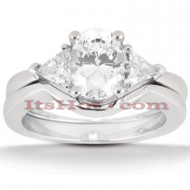 18K Gold Diamond Engagement Mounting Set 0.50ct