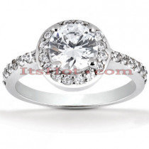 18K Gold Diamond Engagement Ring 1.07ct