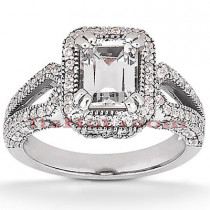 18K Gold Diamond Engagement Ring 1.25ct