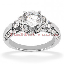 18K Gold Diamond Engagement Ring 1.35ct