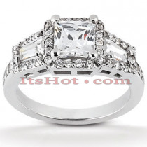 18K Gold Diamond Engagement Ring 1.38ct