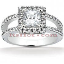 18K Gold Diamond Engagement Ring 1.39ct
