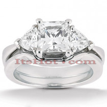 18K Gold Diamond Engagement Ring Set 1.15ct