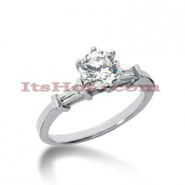 18K Gold Diamond Engagement Ring Setting 0.14ct