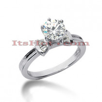 18K Gold Diamond Engagement Ring Setting 0.24ct