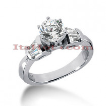 18K Gold Diamond Engagement Ring Setting 0.28ct