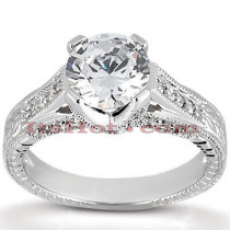 18K Gold Diamond Engagement Ring Setting 0.29ct