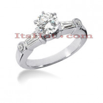 18K Gold Diamond Engagement Ring Setting 0.52ct