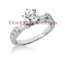 18K Gold Diamond Engagement Ring Setting 0.68ct
