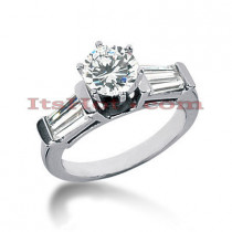 18K Gold Diamond Engagement Ring Setting 0.75ct